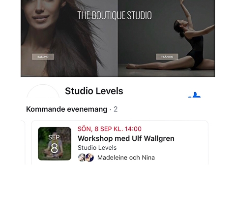 Workshop i MediYog på Studio Levels i Stocholm söndagen den 8 september.