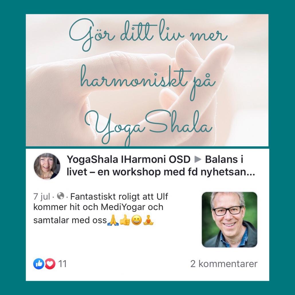 Workshop på YogashalaiHarmoni OSD I Östersund
